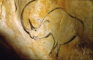 Cave painting of a woolly rhinoceros - Chauvet Cave, France, 30,000 BC