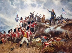 The Battle of New Orleans - Andrew Jackson wins the final battle of the War of 1812 on January 8, 1815 (painting by Edward Percy Moran, 1910)