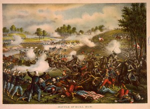 The First Battle of Bull Run during the Civil War, July 21, 1861