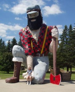 A Paul Bunyan statue in Akeley, Minnesota