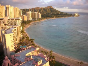 Many people have their honeymoons in Hawaii.