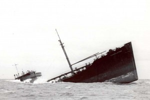 The sinking of the tanker Pendleton of the coast of Massachussetts in 1952