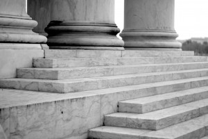 marble steps at the Jefferson Memorial in Washington D.C.