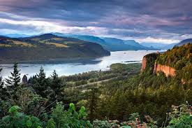 An outlook of the Columbia Gorge in Washington state