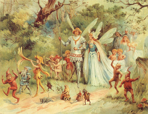A 1910 painting of the king and queen of the fairies