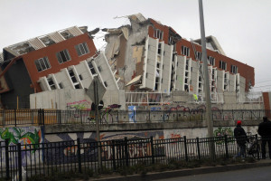 A building in Concepcion, Chile, destroyed in a 2010 earthquake.