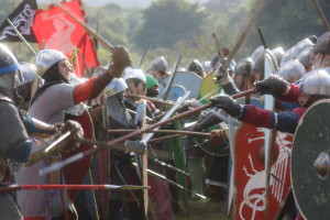 A reenactment of the Battle of Hastings in 1066