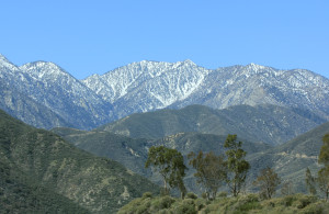 The San Gabriel Mountains of California