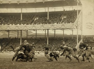 The 1916 Army-Navy football game at the Polo Grounds in New York City