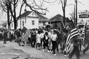 People marching from Selma to Montgomery in 1965