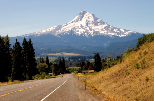 A view of the majestic Mt. Hood in Oregon