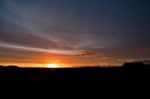 Daybreak on Bodmin Moor in England