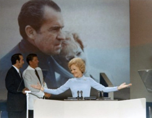 Pat Nixon in the spotlight at the 1972 Republican Convention