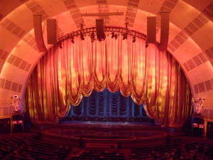 The curtains at Radio City Music Hall in New York
