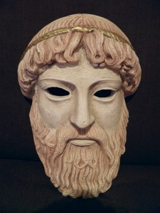 Mask of the Greek god Zeus