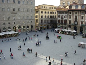 The public square in Florence, Italy.