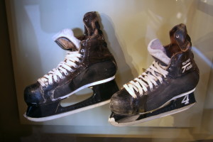 The actual skates worn by Boston Bruin great Bobby Orr in 1970