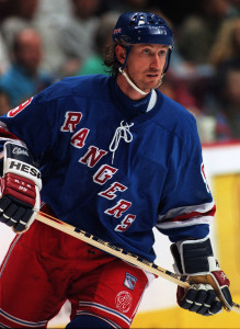 Wayne Gretzky skating as a New York Ranger