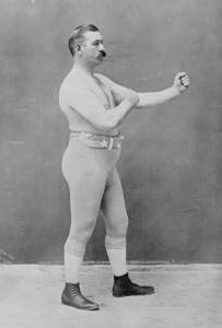 The famous boxer John L. Sullivan in 1898
