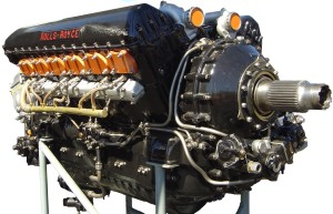 A Rolls Royce aircraft engine