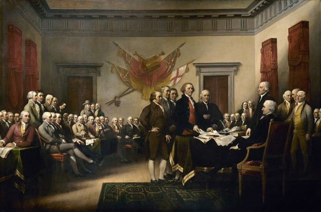 The signing of the Declaration of Independence, painting by John Trumbull, 1819