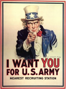 World War I Army recruiting poster