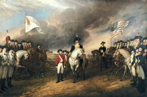 The Surrender of Lord Cornwallis (Yorktown, 1781), by John Trumbull, 1820