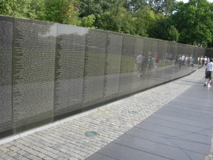 The Vietnam War Memorial in Washington D.C.