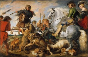 The Wolf and Fox Hunt, Peter Paul Rubens, 1616