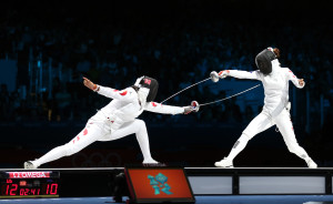 The South Korean Women's Fencing team won the Silver Medal at the 2012 London Olympic Games
