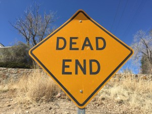 blog - journey - dead end sign